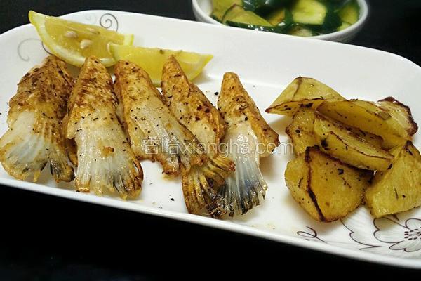 香煎三文鱼鳍