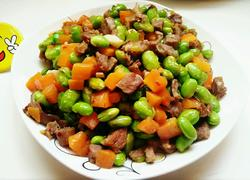 五香牛肉烧青豆
