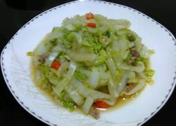大白菜炒肉丝