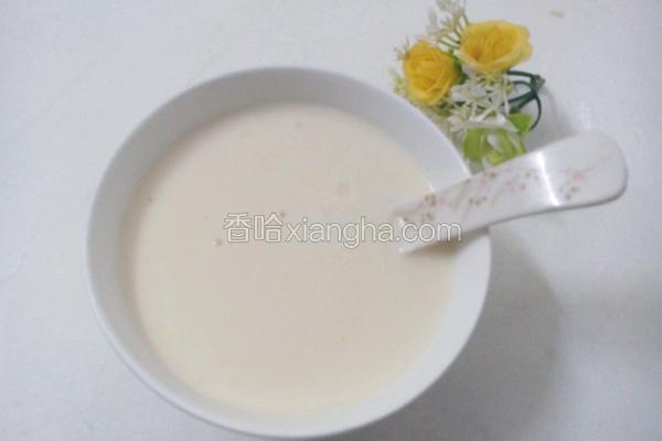 牛奶杏仁糊