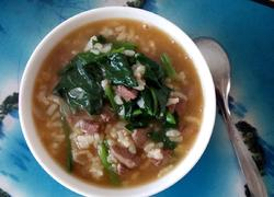 菠菜鸡肝粥
