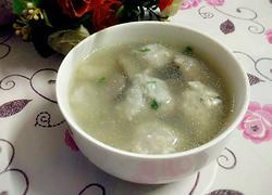 鲮鱼丸平菇汤