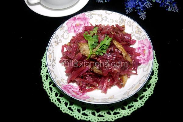 红心萝卜炒肉