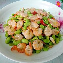毛豆米烧虾的做法[图]