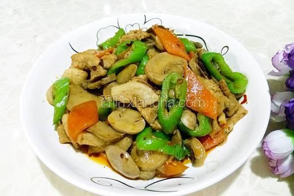 口蘑炒肉片