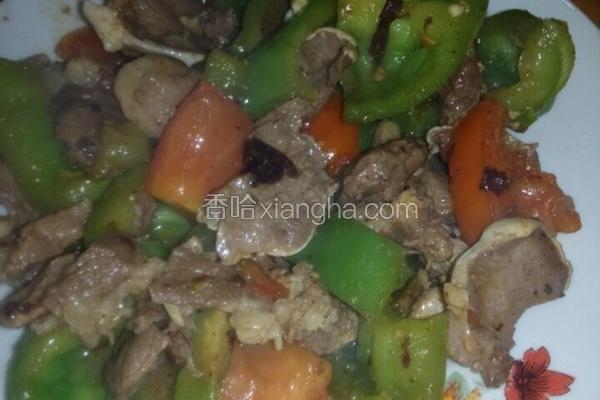 青椒番茄炒猪舌