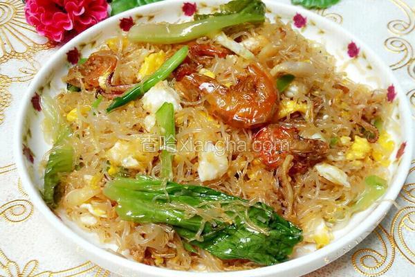 虾干炒米粉