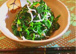 梅干拌菠菜