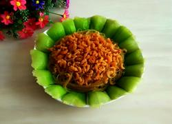 虾仁油菜拌粉丝