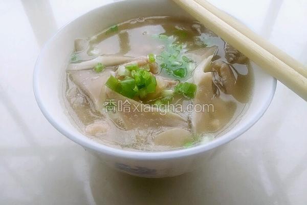 平菇瘦肉汤