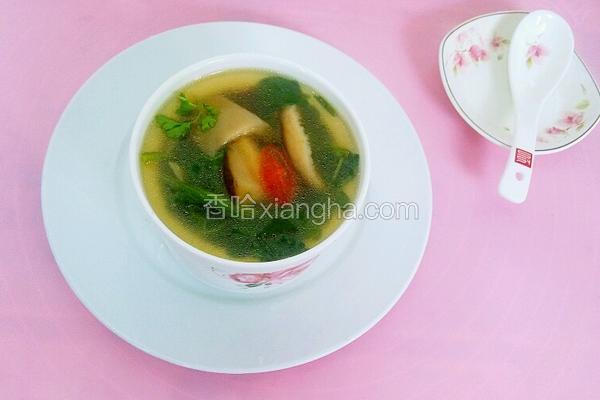 西洋菜香菇汤