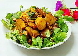 杏鲍菇焖土豆
