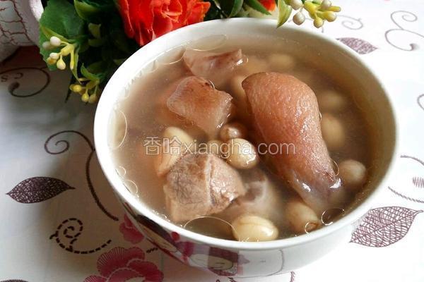 红枣花生猪脚汤