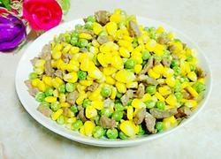 碗豆玉米炒肉