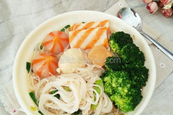 葱香米粉汤