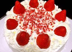 草莓(蓝莓)奶油戚风蛋糕(八寸)