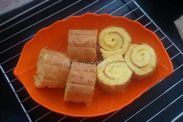 南瓜蜂蜜蛋糕卷