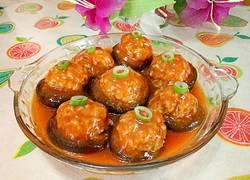 酸甜香菇酿圆子