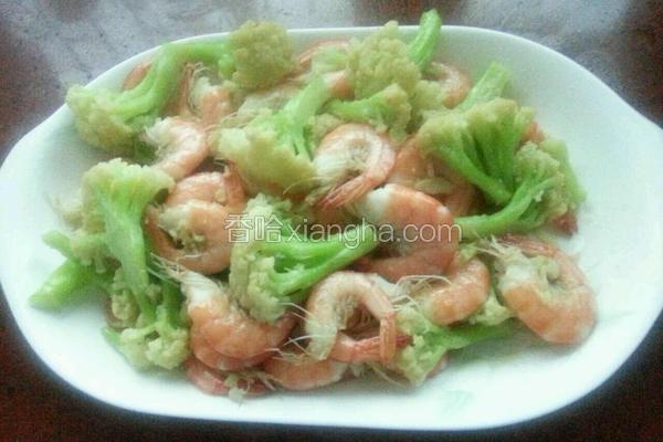 花菜炒大虾