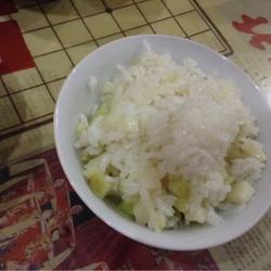 土豆炕饭+米汤