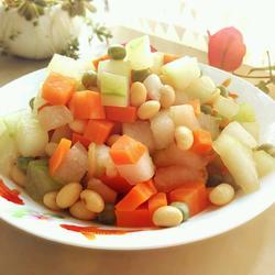 冬瓜双豆的做法[图]
