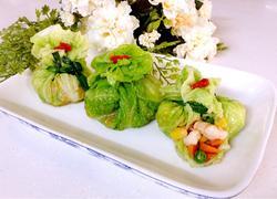鲜虾翡翠黄金包