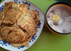 豆腐渣饼配板栗山药大米粥