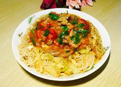 湿炒番茄牛肉米粉