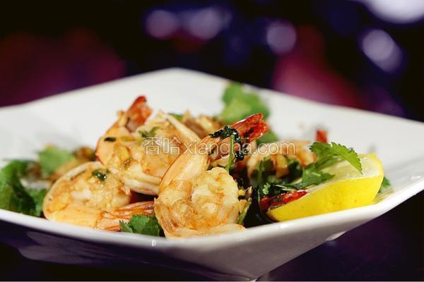 泰式柠香蒜蓉胡椒虾