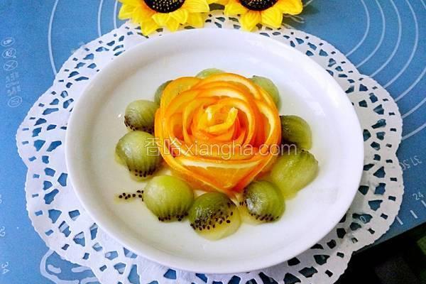 香橙玫瑰花