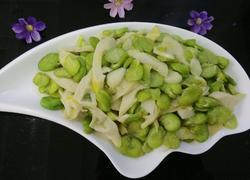 竹笋炒豆瓣
