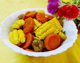 胡萝卜玉米焖排骨[图]
