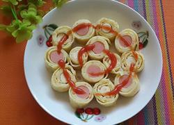 胡萝卜鸡蛋火腿卷