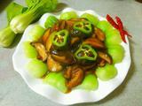 酱香菇扒油菜的做法[图]