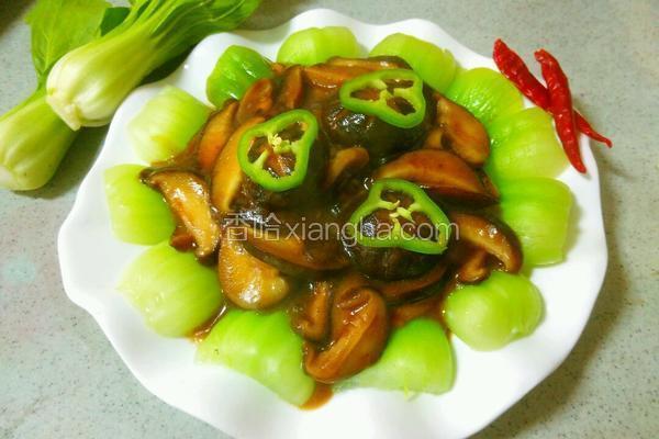 酱香菇扒油菜
