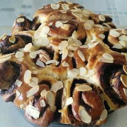 杏仁巧克力酱面包