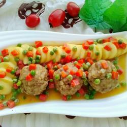 清蒸豆腐狮子头