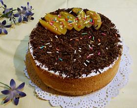 巧克力碎奶油蛋糕[图]