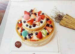 草莓双层裸蛋糕