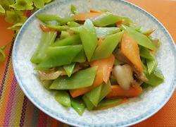 莴苣胡萝卜片炒肉