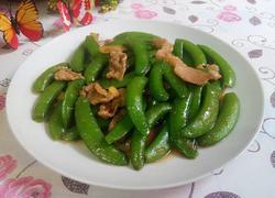 瘦肉炒甜豆