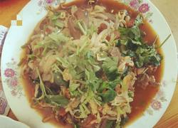 豆芽炒肉片