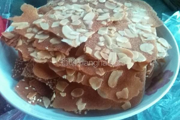 杏仁、芝麻瓦片饼