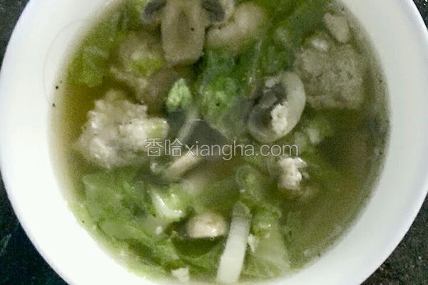 平菇丸子汤
