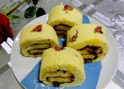 果酱樱花蛋糕卷