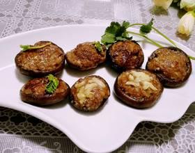 鲜烤香菇酿肉
