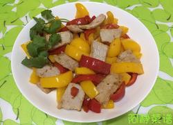 肉片炒菜椒