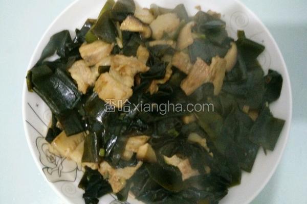 海带香菇炒五花肉