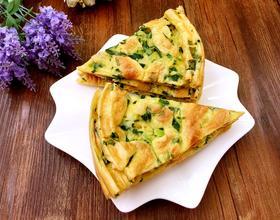 油菜鸡蛋饼[图]