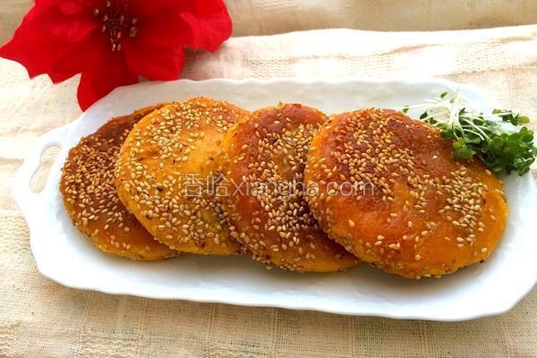 南瓜芝麻饼的做法_南瓜芝麻饼的做法_菜谱_香哈网